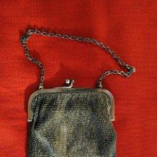 Antigüedades: BOLSO DE MALLA FINA, DEL SIGLO XIX REALIZADO EN PLATA DE LEY DE 925. CON FORRO INTERIOR.. Lote 151473710