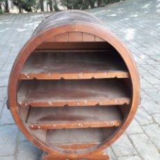 Antigüedades - Botellero de madera rústico en roble macizo#ESPECTACULAR# - 151493988