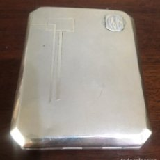 Antigüedades: ESPECTACULAR TABACALERA PLATA PORTUGUESA. Lote 151494966