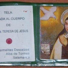 Antigüedades: RELIQUIA ESTAMPA DE SANTA TERESA DE JESUS. Lote 183343093