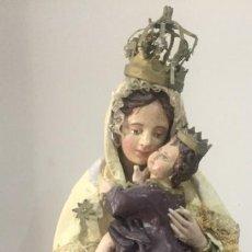 Antigüedades: MARAVILLOSA VIRGEN EN PAPIER MARCHÉ . Lote 151499582