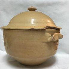 Antigüedades: SOPERA DE TERRACOTA ESMALTADA S. XIX. Lote 151530502
