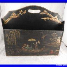Antigüedades: REVISTERO METALICO CON DIBUJOS CHINOS. Lote 151538818