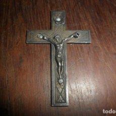 Antigüedades - antigua cruz crucifijo plata cristo jesus sellado miniatura medidas 27 x 40 mm c/65 - 151703426