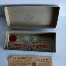 Antigüedades: ANTIGUA CAJA LAMPARILLAS VICTORIA , VACIA. Lote 151542046