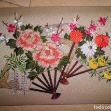 Antigüedades: PRECIOSAS FELICITACIONES JAPONESAS EN SEDA. Lote 151542098
