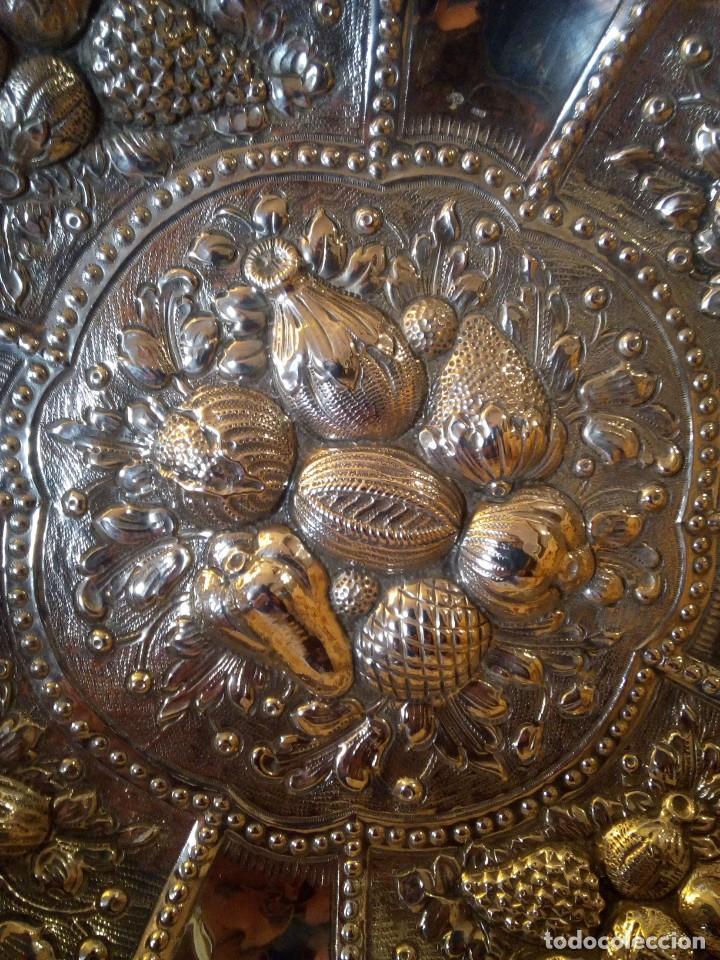 Antigüedades: Centro en plata punzonada principios de.XX platero Reyes - Foto 2 - 151556522