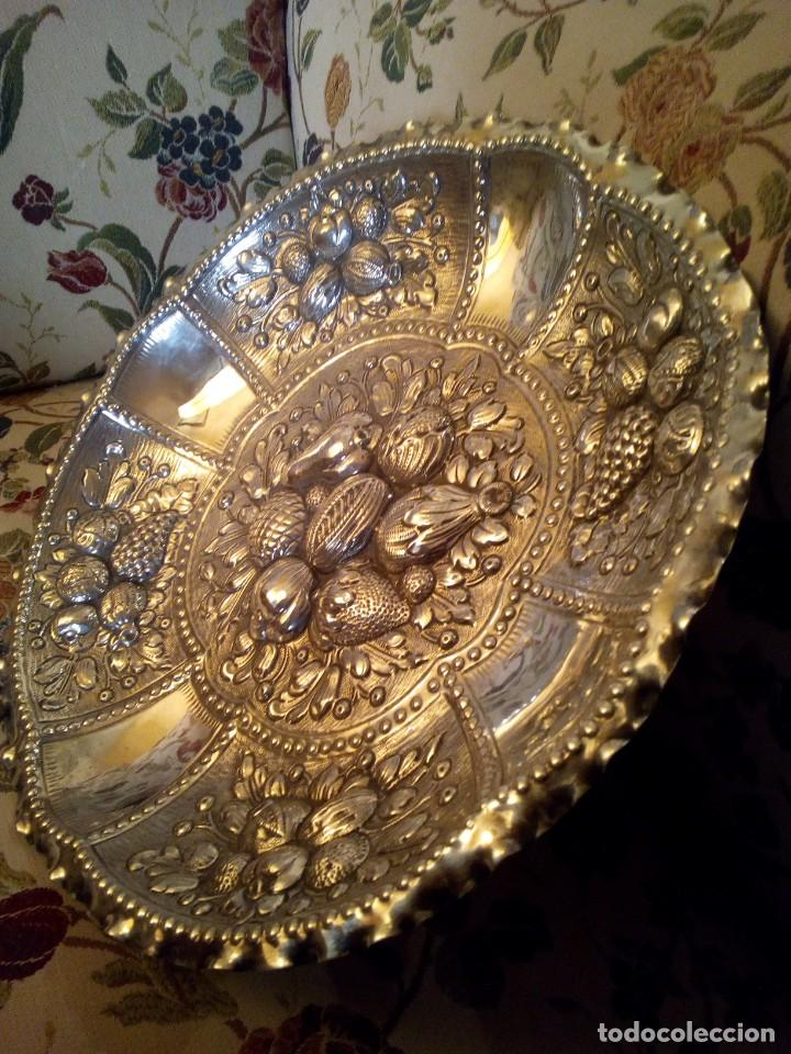 Antigüedades: Centro en plata punzonada principios de.XX platero Reyes - Foto 4 - 151556522
