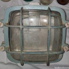 Antigüedades: ANTIGUA LAMPARA INDUSTRIAL. Lote 151571253