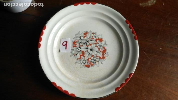 ANTIGUO PLATO ORIGINAL E LA CARTUJA PICKMAN SEVILLA - RARO MODELO 24,5 CM DE DIAMETRO (Antigüedades - Porcelanas y Cerámicas - La Cartuja Pickman)