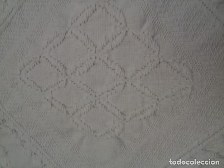 Antiquitäten: ANTIGUA COLCHA BLANCA-ALGODÓN - Foto 12 - 151592590