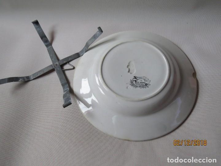 Antigüedades: ANTIGUO PLATO DE CARTAGENA DIAMETRO:23CM - Foto 7 - 151597498