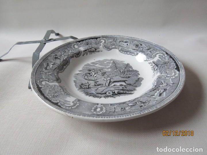ANTIGUO PLATO DE CARTAGENA. SIGLO XIX DIAMETRO:23CM (Antigüedades - Porcelanas y Cerámicas - Cartagena)