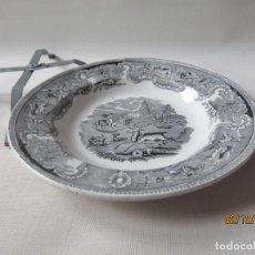 Antigüedades: ANTIGUO PLATO DE CARTAGENA. SIGLO XIX DIAMETRO:23CM. Lote 151597806