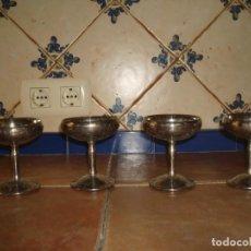 Antigüedades: 4 COPAS METAL PLATEADO SELLO EN LA BASE ALARA SEVILLA. Lote 151598806