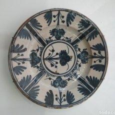 Antiguidades: PLATO CATALÁN DE S XVIII EN CERÁMICA PINTADO A MANO (CIRERETA).. Lote 151601406