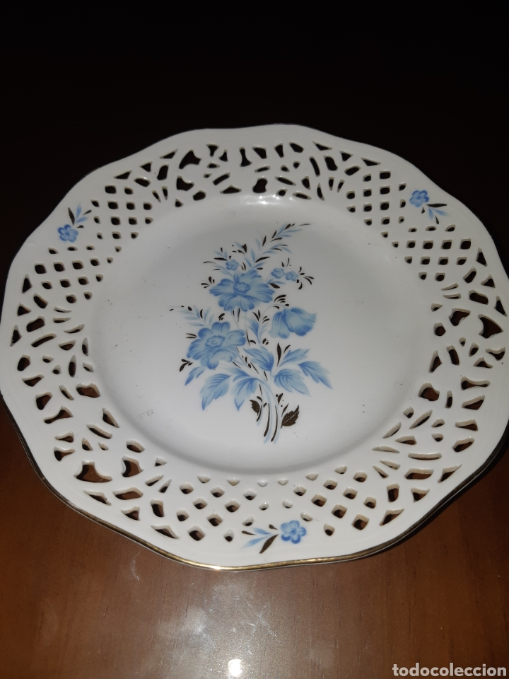 PLATO CALADO SCHUMANN (Antigüedades - Porcelana y Cerámica - Alemana - Meissen)