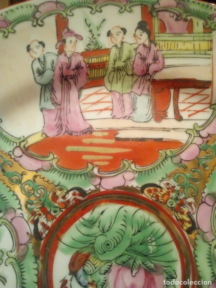 Antigüedades: Antiguo plato sXIX en porcelana China - Foto 2 - 214544772