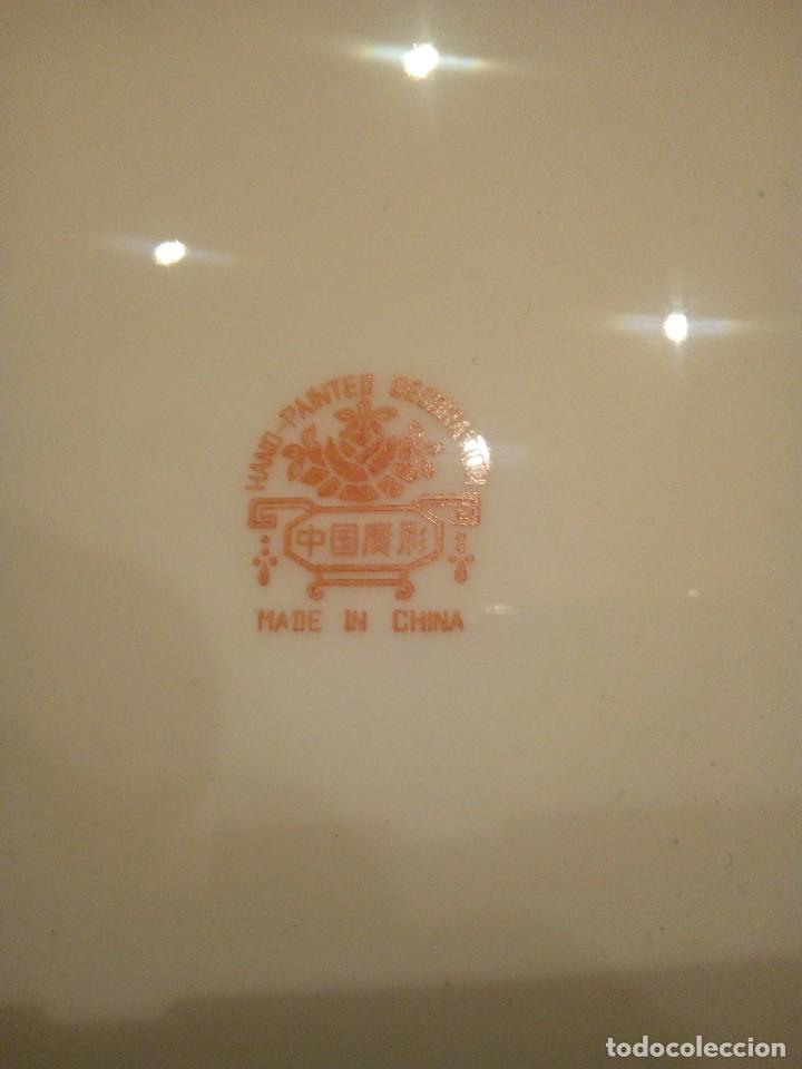 Antigüedades: Antiguo plato sXIX en porcelana China - Foto 3 - 214544772
