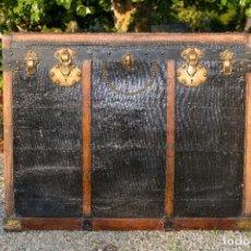 Antigüedades: BAUL DE COCHE 1900. Lote 151633258
