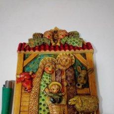 Antigüedades: CERAMICA DEL CONVENTO JM BELEN NACIMIENTO PARA COLGAR TIPO CUADRO . Lote 151642254