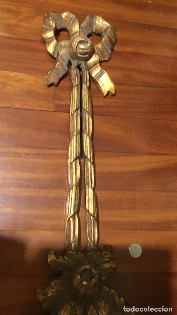Antigüedades: Antigua talla madera pan de oro - Foto 3 - 151642650