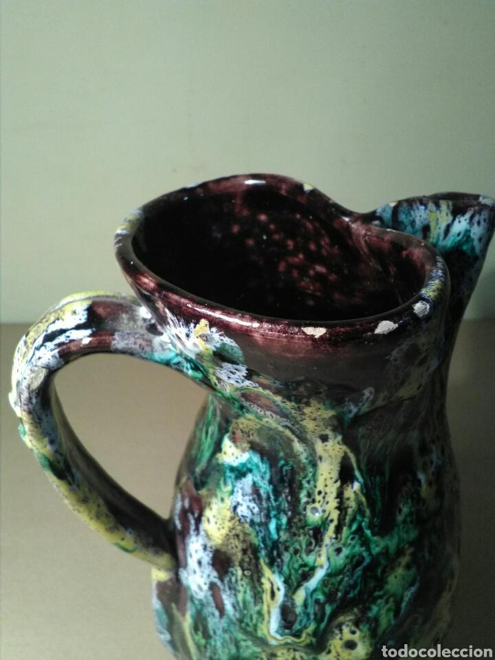Antigüedades: Jarra cerámica vidriada firmada SANGUINO (TOLEDO ) - Foto 5 - 151653794