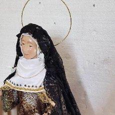 Antigüedades: VIRGEN DE VESTIR EN TALLA DE MADERA ALTO 65CM MAS CORONA. Lote 151668746