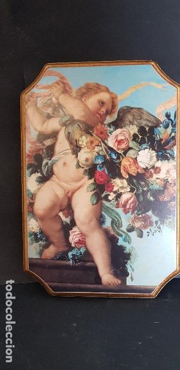 Antigüedades: PAREJA DE CUADROS ANGELITOS - Foto 3 - 151668802