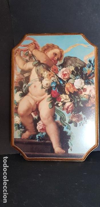 Antigüedades: PAREJA DE CUADROS ANGELITOS - Foto 4 - 151668802