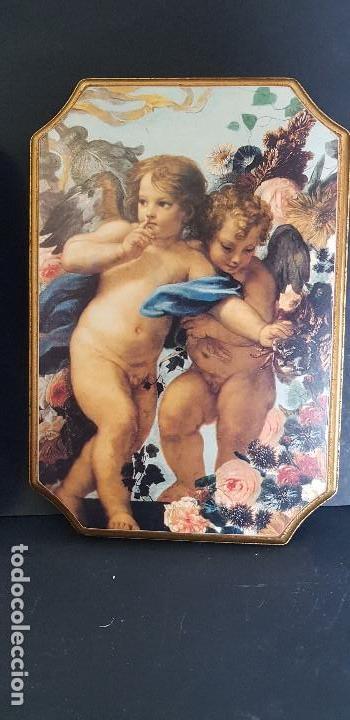 Antigüedades: PAREJA DE CUADROS ANGELITOS - Foto 5 - 151668802