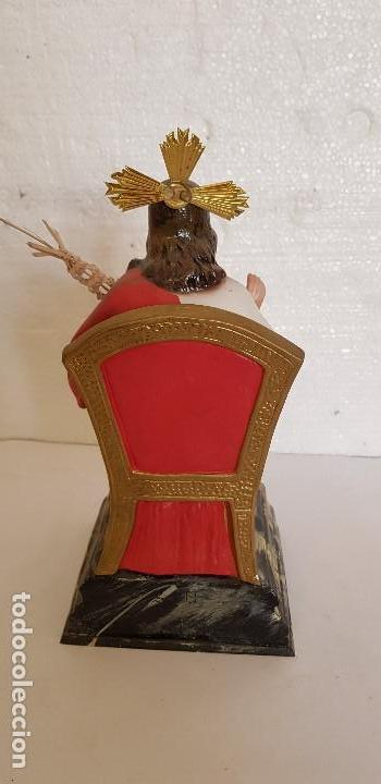 Antigüedades: SAGRADO CORAZON DE JESUS ENTRONIZADO EN ESCAYOLA - Foto 2 - 151669474