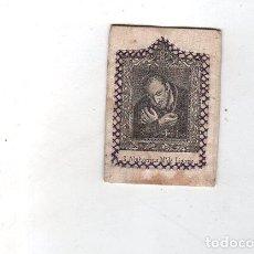 Antigüedades: ESCAPULARIO. MEDIDAS : 9.5 X 7 CM APROX. S. ALPHONSUS Mª DE LIGORIO.. Lote 151697574