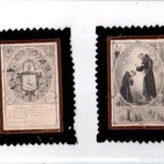 Antigüedades: ESCAPULARIO DE BENEDICTIÓ S. P. FRANCISCI. MEDIDAS : 16 X 11.5 CM APROX. . Lote 151701454
