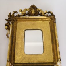 Antigüedades: ESPEJO ANTIGUO COPETE PAN DE ORO. Lote 151706478