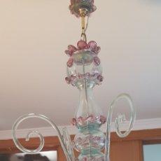 Antigüedades: LAMPARA DE VIDRIO SOPLADO GORDIOLA. Lote 151713065