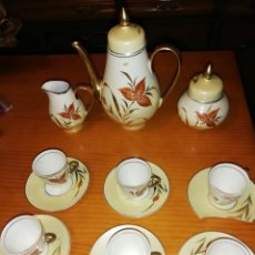 Antigüedades: JUEGO DE CAFE O TE PORCELANA CAPEANS MADE IN SPAIN. Lote 151721948