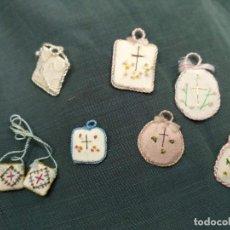 Antigüedades: LOTE DE SIETE ESCAPULARIOS ANTIGUOS.. Lote 151731118