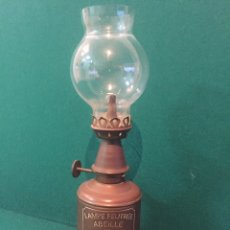 Antigüedades: LÁMPARA DE ACEITE,LAMPE FEUTREE OLYMPE MARQUE DEPOSEE.24X8CM. Lote 151856113
