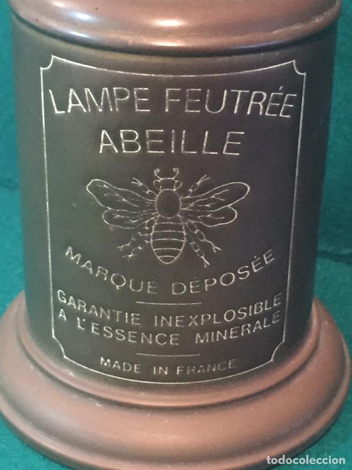 Antigüedades: Lámpara de aceite,lampe feutree olympe marque deposee.24x8cm - Foto 2 - 151856113