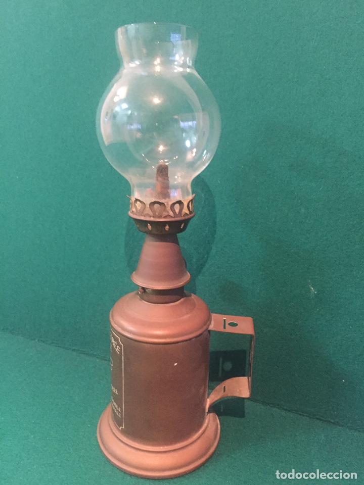 Antigüedades: Lámpara de aceite,lampe feutree olympe marque deposee.24x8cm - Foto 3 - 151856113