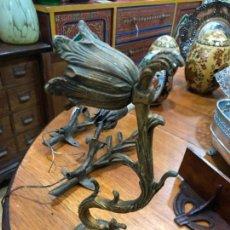 Antigüedades: ANTIGUO APLIQUE DE BRONCE PARA PARED - MEDIDA 30 CM. Lote 151871786