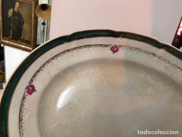 Antigüedades: ANTIGUA SOPERA Y BANDEJA CERAMICA SAN CLAUDIO OVIEDO - Foto 14 - 151876894