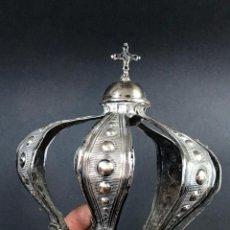 Antigüedades: PRECIOSA CORONA EN PLATA DE LEY FIN S.G.XIX PRIN XX. Lote 151906342