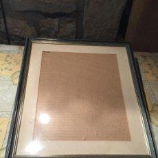 Antigüedades: ANTIGUO MARCO / CUADRO DE MADERA CON PASPARTÚ AÑOS 60-70. Lote 151908270