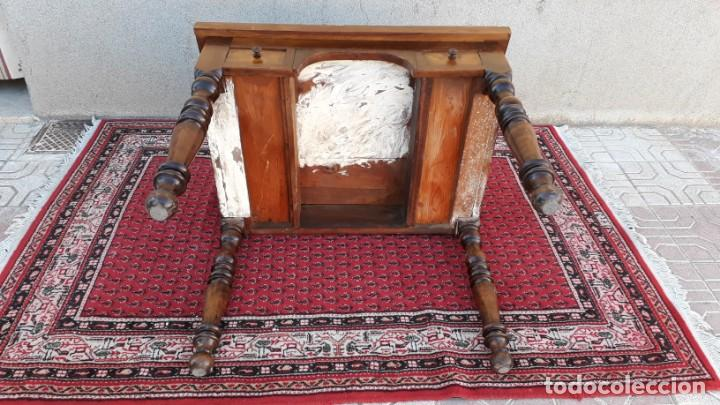 Antigüedades: Escritorio antiguo de arquitecto. Pupitre secreter antiguo de dibujante Buro bureau estilo isabelino - Foto 24 - 151908430