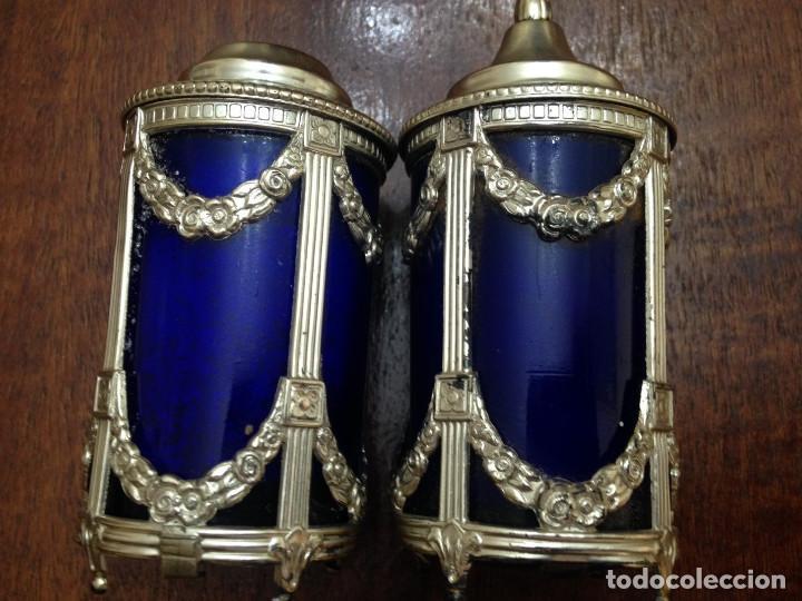 DOS SALEROS INGLESES (Antigüedades - Cristal y Vidrio - Inglés)