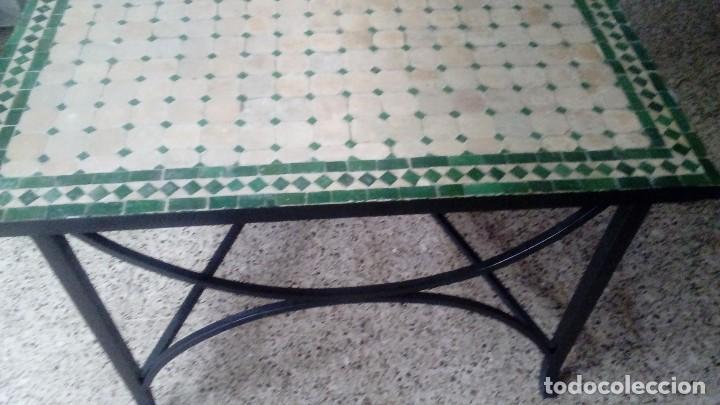 Antigüedades: Lote de piezas de hierro forjado de Arte Español (Mesa, 4 sillas ) MIDE 200 x 100 x 75 CM. - Foto 4 - 151929686