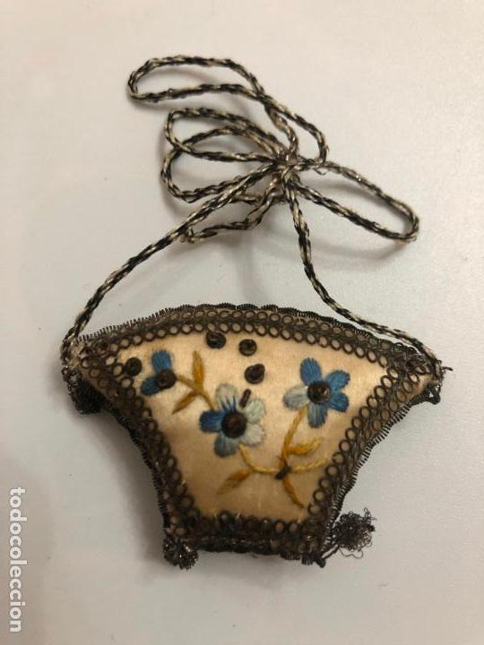Antigüedades: Escapulario pequeño flores - Foto 2 - 151934786