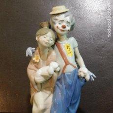 Antigüedades: PROMOCION LLADRO GEISHA PAYASO Y NIÑA PERRITOS 24 CMS UN BELLEZON. Lote 151943994